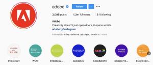 Adobe Instagram Profle