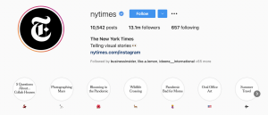 The New York Times Instagram